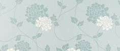 Isodore Duck Egg/White Floral Wallpaper at Laura Ashley