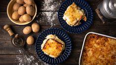 Τυροπιτα Καταΐφι με κρέμα σιμιγδαλιού - madameginger.com French Toast, Muffin, Vegetables, Eat, Cooking, Breakfast, Ethnic Recipes, Food, Drink