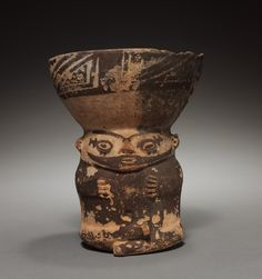 Peru, Pachacamac, 9th-12th Century, pottery, Overall: 16.80 x 13.40 x 12.70 cm (6 9/16 x 5 1/4 x 5 inches). Gift of Mrs. J. Livingstone Taylor 1919.640