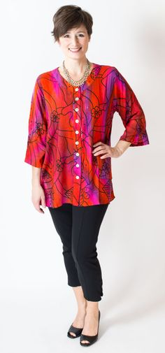 Hand-dyed batik patterns are so cool! Blue Sky Clothing Co