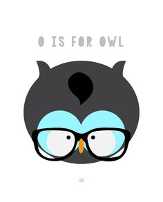 LostBumblebee ©2014 O is for OWL Hoot! FREE PRINTABLE- for personal use only.