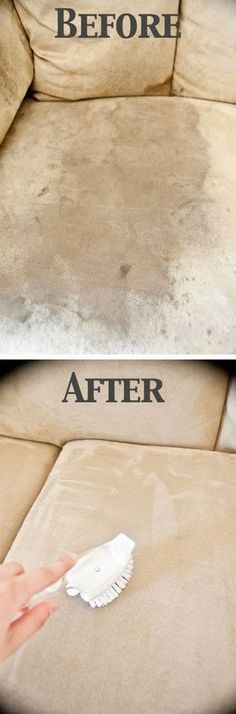 How To Clean A Microfiber Couch. Many people love cleaning cheats like this and this is one of the best. Discover How To Clean A Microfiber Couch with ONE Ingredient only Diy Cleaning Products, Cleaning Solutions, Cleaning Hacks, Sofa Cleaning, Speed Cleaning, Furniture Cleaning, Cleaning Supplies, Cleaning Alcohol, Bathroom Cleaning