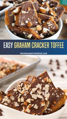 A delicious and addicting toffee with only 5 ingredients! This Easy Graham Cracker Toffee is a dessert that is super easy to make! It is the perfect Christmas food idea that will be loved by your family. Make this graham cracker toffee bark for later! Graham Cracker Toffee, Graham Cracker Recipes, Graham Cracker Dessert, Graham Cracker Cookies, Christmas Crack Recipe Graham Crackers, Recipes With Graham Crackers, Toffee Recipe With Crackers, Cracker Candy, Easy Dessert Bars