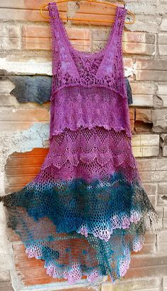 Pixie Punk dress Handmade crochet and lace.BY от NomadasTribe