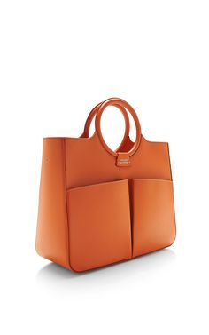 Shop Fairchild Baldwin Victoria Bag In Orange. This item by Fairchild Baldwin features a smooth calf leather in bright orange with natural linen lining for the ideal day bag with a double top handle and shoulder strap. Tote Handbags, Purses And Handbags, Leather Handbags, Leather Bag, Calf Leather, Soft Leather, Tote Bags, Red Leather, Sac Week End
