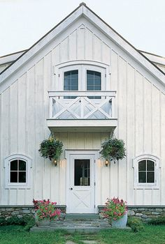 The guesthouse exterior. Marvin casement windows