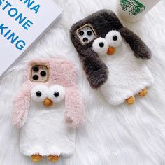 Matching Phone Cases, Cute Phone Cases, Iphone Cases, Best White Nail Polish, Phone Shop, Pink Grey, Penguins, Plush, Funny Penguin