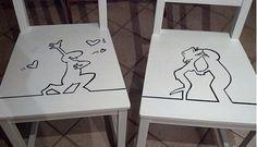 Decorare le vecchie sedie di legno ecco un'idea