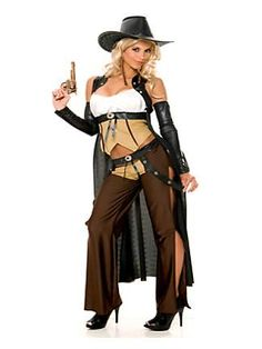 WOMENS SEXY  WANTED COWGIRL COSTUME