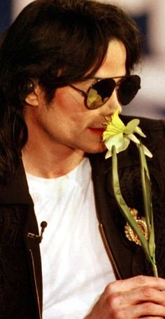 So.. Michael Jackson smelling a flower. You're welcome.