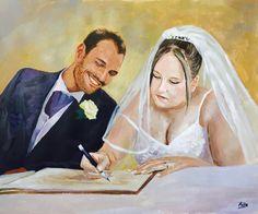 Pastel wedding portrait #wedding #weddingportrait #paint #painting…