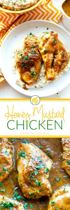 Saucy, tangy, succulent Honey Mustard Chicken is a tasty weeknight meal that everyone will not just love, but DEVOUR! Give yourself 18 minutes and dinner is served with this quick and easy dinner recipe! #ad #NewComfortFood