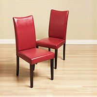 Warehouse of Tiffany 24091044+8543151 CHAIR Shino Room Chairs Dining Chair, Red