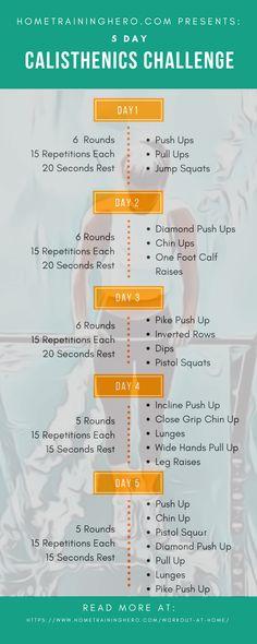 Killer 5 day calisthenics workout routine! 💪 #hometraininghero #calisthenicsworkoutroutine #calisthenics #bodyweightworkout