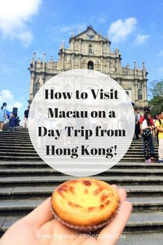 How to Visit Macau on a Day Trip from Hong Kong! Macau is a Chinese city that feels like Portugal but also like Las Vegas. It's really easy to do a day trip to Macau from Hong Kong via boat and I'd highly suggest going as it's like no where else in the world! Here is how I did the trip and what I did in Macau!