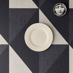 Diamond Tri-Tone Geometric Wallpaper. $190.90 per double roll. Graphic. Versatile. Adjustable pattern match. Can be installed straight or drop to change the design. 7 colors. #geometricwallpaper #modernwallpaper #texturedwallpaper #designerwallpaper #homedecorideas @Eijffinger @BrewsterHome