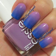 Purple Blue Gradient by Prettynailsbymal
