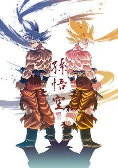 The first Awake 🔥 Goku Legend _ 😍 Artist Otaku Anime, Anime Art, Manga Anime, Manga Girl, Anime Girls, Dragon Ball Gt, Akira, Wallpaper Do Goku, Broly Ssj4