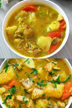 Stew Chicken Recipe, Chicken Recipes, Stewed Chicken, Tasty Videos, Food Videos, Chicken Dinner Party Recipes, Share Photos, Easy Healthy Recipes, Food Dishes
