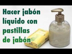 Cómo hacer jabón líquido casero o gel de baño con una pastilla de jabón - YouTube