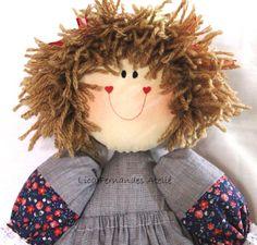 Boneca de brincar.  Boneca de pano de brincar.  #licafernandesateliê