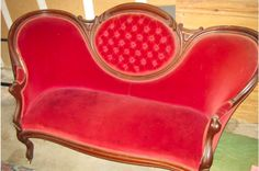 Red+Victorian+Chair | Red Victorian Sofa