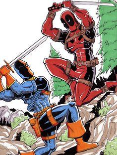 Deadpool vs deathstroke comic book