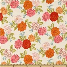 happy floral fabric
