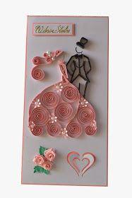 Wczorajsze moje dzielo,to jeszcze jedna slubna kartka  do kolekcji:)   Tym razem odcienie różu.Wymiary ok 10,5 x 21cm   I jak zwykle,moje u...