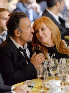 Musicians Bruce Springsteen and Patti Scialfa attend USC Shoah Foundation's 20th Anniversary Gala at the Hyatt Regency Century Plaza on May 7, 2014 in Century City, California.
