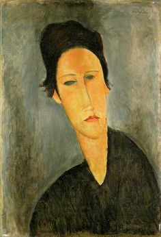 Portrait of Anna Zborowska, 1919  by Amedeo Clemente Modigliani (1884-1920) Italian painter / sculptor who worked mainly in France.   ~Repinned via Eric Vose