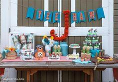barn themed boy birthday party idea www.spaceshipsandlaserbeams.com