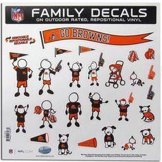 Cleveland Browns NFL Family Car Decal Set (Large)