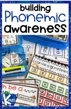 Build phonemic awareness with hands on activities. Students manipulate the sounds they hear and see in their word study activities. A Word Detective Kit makes it fun and interactive!