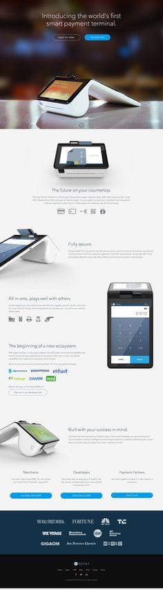 """Poynt, """"the world's first smart payment terminal."""" https://getpoynt.com/ Not related to Poynt.com."""