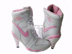 Women Nike Air Jordan 1 High Heels Beige Pink  http://www.buyhotshoes.com/women-nike-air-jordan-1-high-heels-beige-pink-p-1296.html