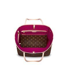 Louis Vuitton Neverfull MM Monogram Canvas Handbag - Pivione