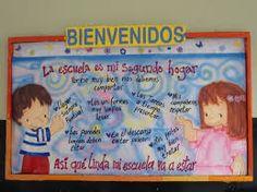 Resultado de imagen de cartelera escolar / bienvenidos