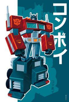 optimus prime, design, japan