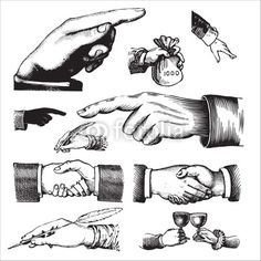 Vector: set of antique hands engravings (vector) #vector #download #image #royalty #free #printable #scrap #scrapbook #scrapbooking #diy #paper #graphic #old #illustration #vintage #retro #antique #decorative #decor #decoration #page #book #design #ornament #ornate #woodcut #engraving #engraved #etching #print #element #ephemera #ancient
