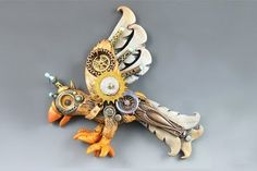 Polymer Clay Steampunk Bird by Christi Friesen