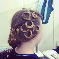 Victorian hair style with pin curls