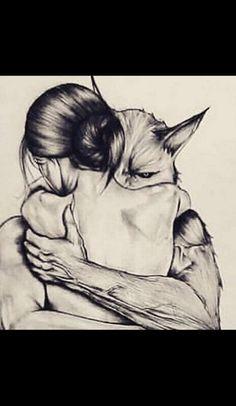 Tattoo girl wolf illustrations Ideas for 2019 - Erstaunliche zeichnungen - Tattoo Dark Fantasy Art, Fantasy Artwork, Dark Art, Wolf Illustration, Animal Drawings, Art Drawings, Werewolf Art, Werewolf Tattoo, Vampires And Werewolves