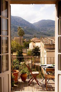 balcon a la montaña