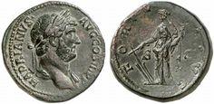 AE Sestertius. Roman Coin, Roman Empire, Hadrianus 117-138 AD. 134-138 AD. 27,46g. RIC 437, 759. Good VF/VF. Price realized 2011: 850 USD.