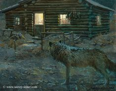 Wolf at the Door Not Just Wildlife Art of John & Suzie Seerey-Lester