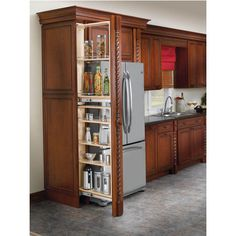 Finish a too open kitch with a pull out narrow shelves.  sc 1 st  Pinterest & 61 best Pull Out Pantry images on Pinterest | Kitchen organization ...