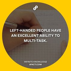 Tell your left-handed friends! #8fact by 8factapp