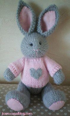 Best 12 Francis the Easter Bunny – Free Pattern – SkillOfKing. Knitting Bear, Teddy Bear Knitting Pattern, Animal Knitting Patterns, Knitting Paterns, Crochet Teddy, Christmas Knitting Patterns, Knitting Projects, Crochet Toys, Loom Knitting