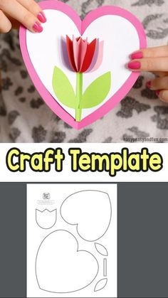 mothers day crafts for kids & mothers day gifts ; mothers day crafts for kids ; mothers day gifts from daughter ; mothers day gifts for grandma ; Kids Crafts, Mothers Day Crafts For Kids, Mothers Day Cards, Valentine Day Crafts, Easy Diy Crafts, Craft Projects, Project Ideas, Craft Ideas, Kids Diy